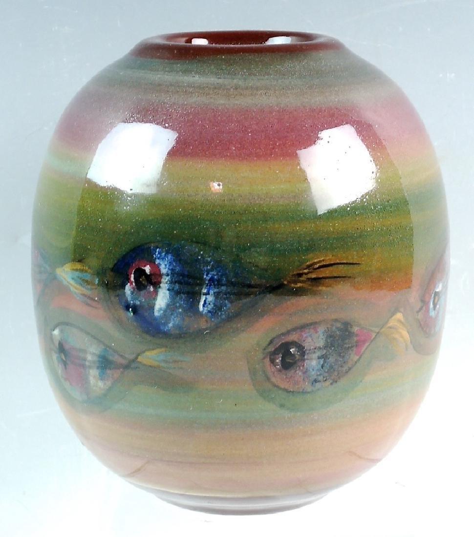 Polia Pillin Mid century Vase with Fish