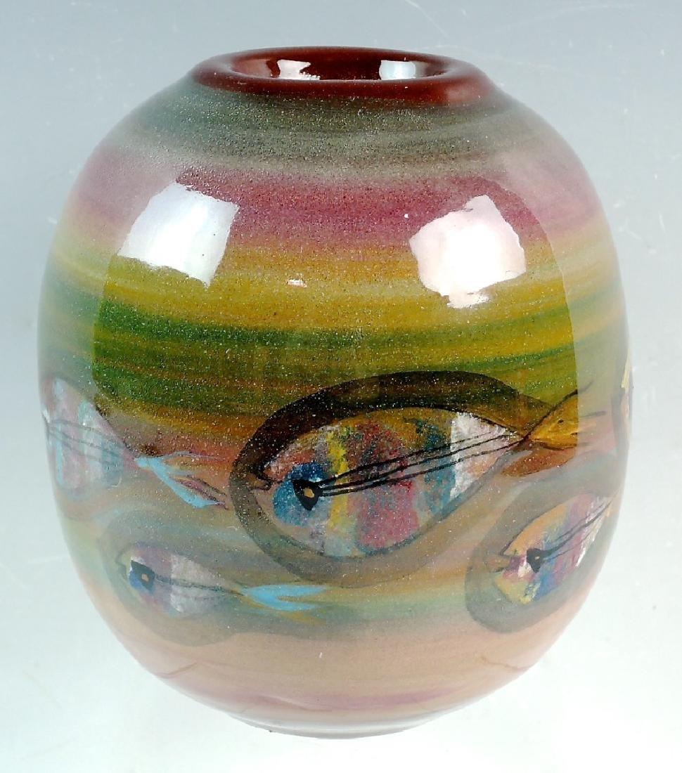 Polia Pillin Mid century Vase with Fish - 2