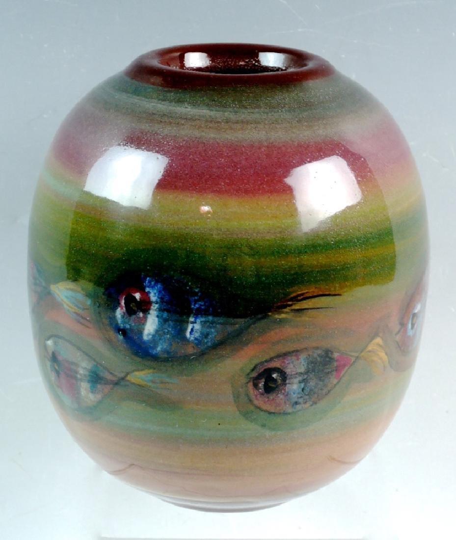 Polia Pillin Mid century Vase with Fish - 4