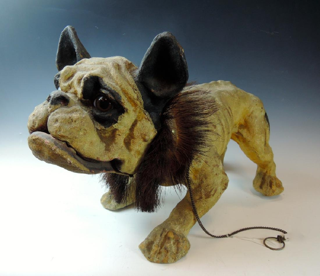 19th Century French Bulldog Growler Toy