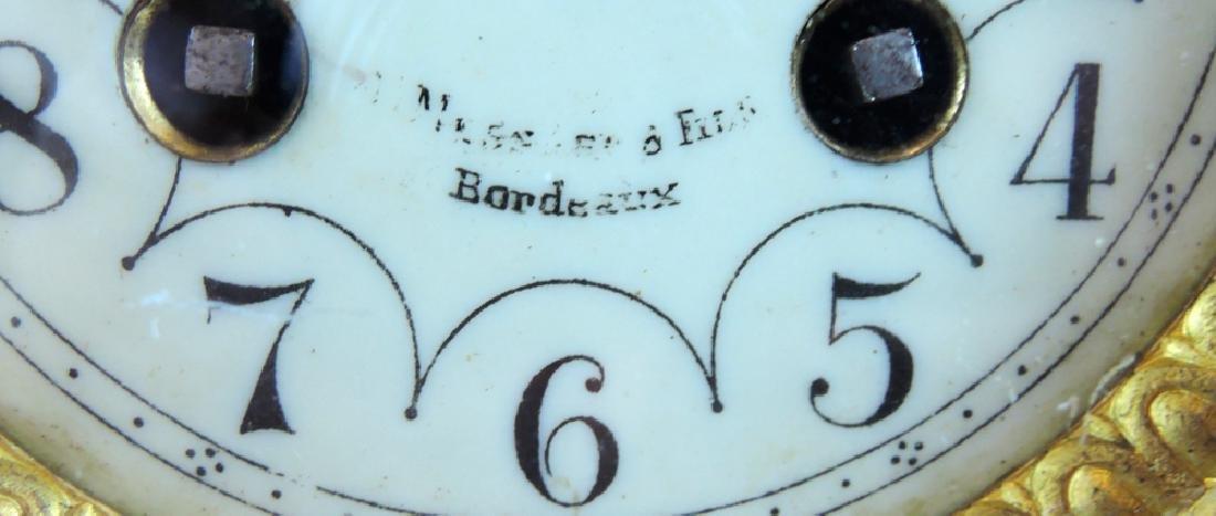 French Dore Bronze Imari Porcelain Mantle Clock - 2