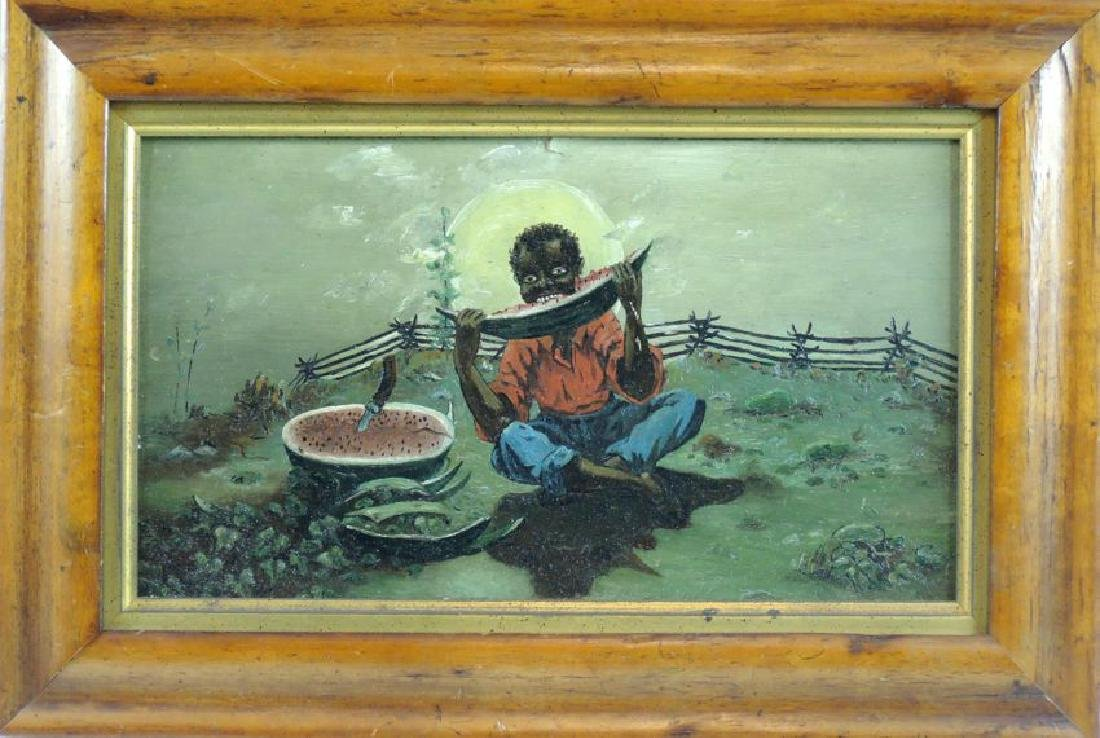 Antique Black Americana Painting