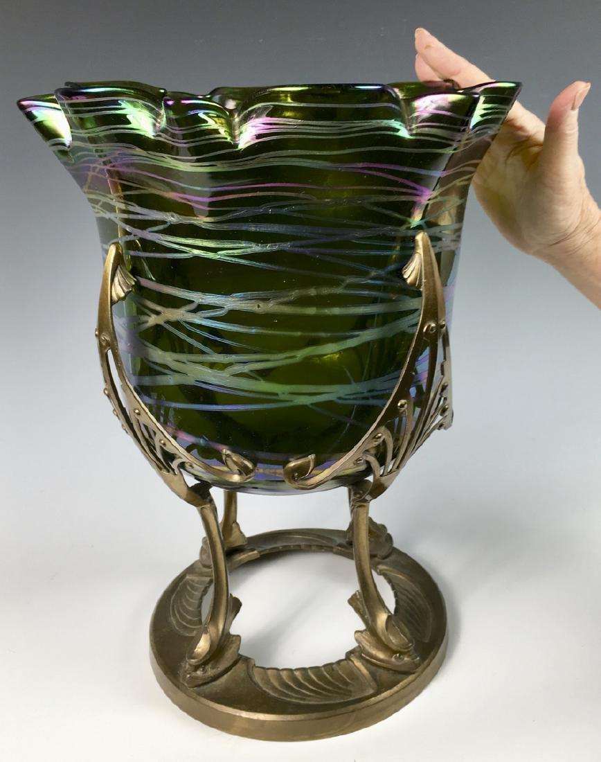 Monumental Loetz Palme Konig Austrian Art Glass Vase - 3