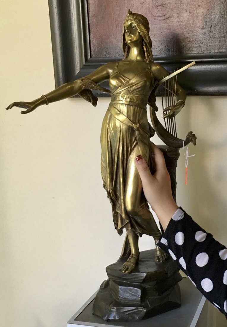 Edouard Drouot Bronze Sculpture Salome - 5
