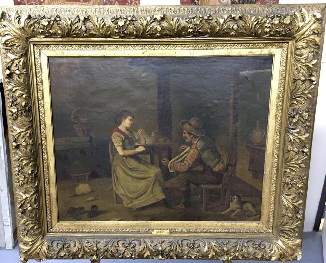 "F Hardegg Painting ""Help Spinning the Yarn"""