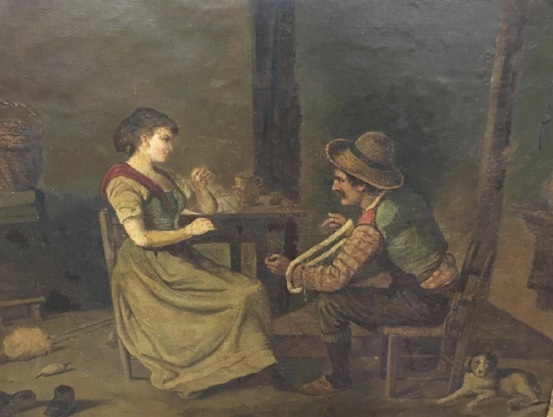 "F Hardegg Painting ""Help Spinning the Yarn"" - 2"