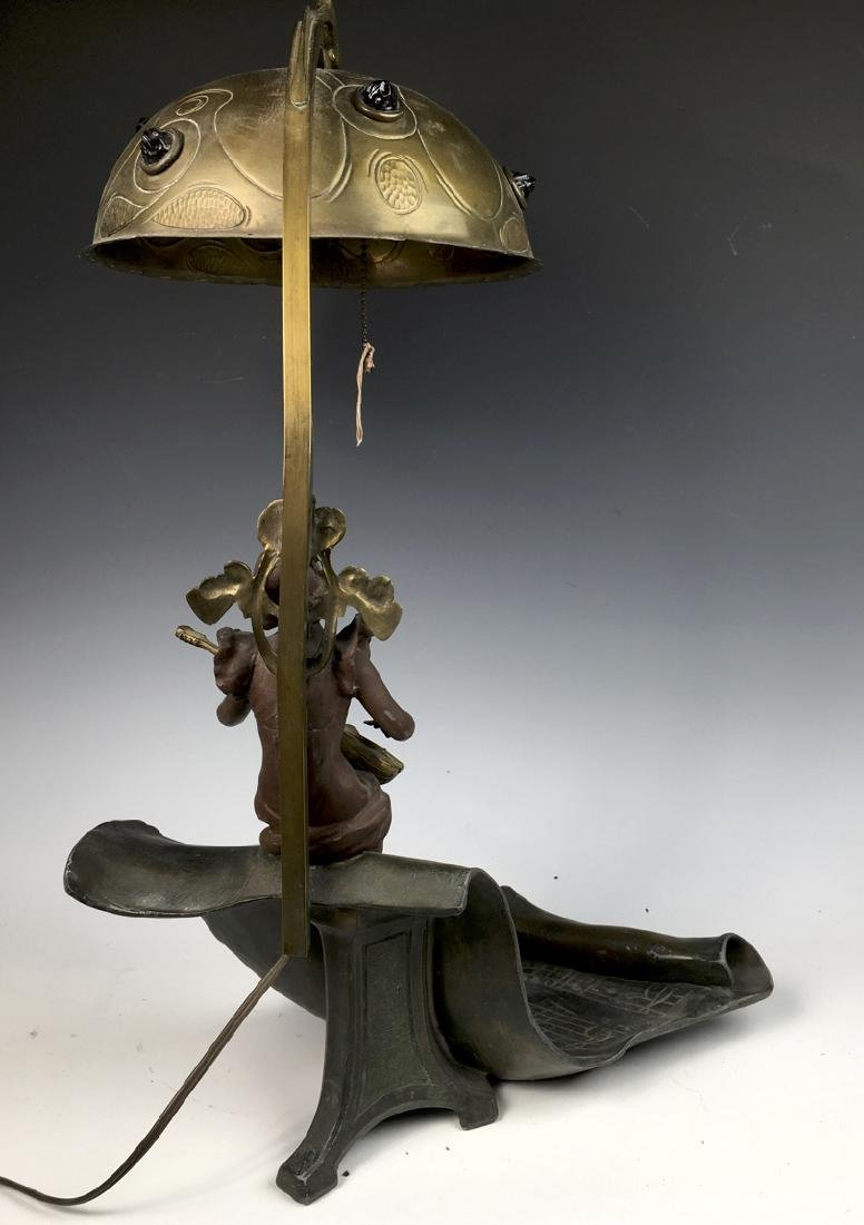 Art Nouveau Figural Lamp with Jewels - 4
