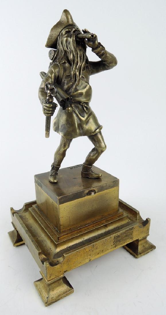 Antique Bronze Pirate Cigar Lighter