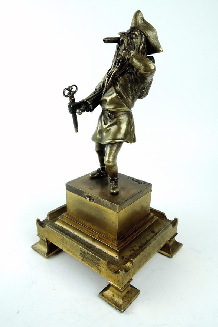 Antique Bronze Pirate Cigar Lighter - 2