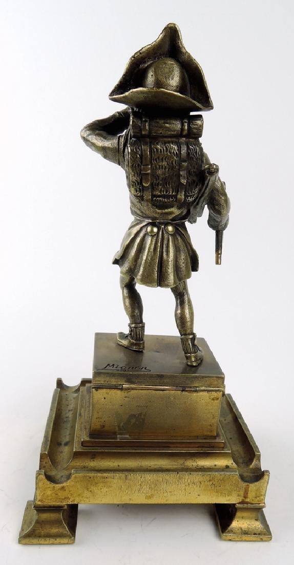 Antique Bronze Pirate Cigar Lighter - 3