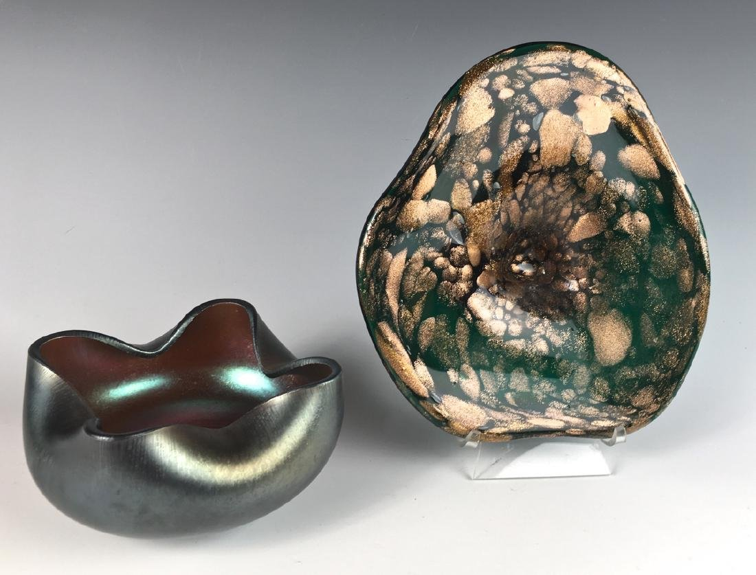 Signed Imperial Bowl and Murano Glass Bowl