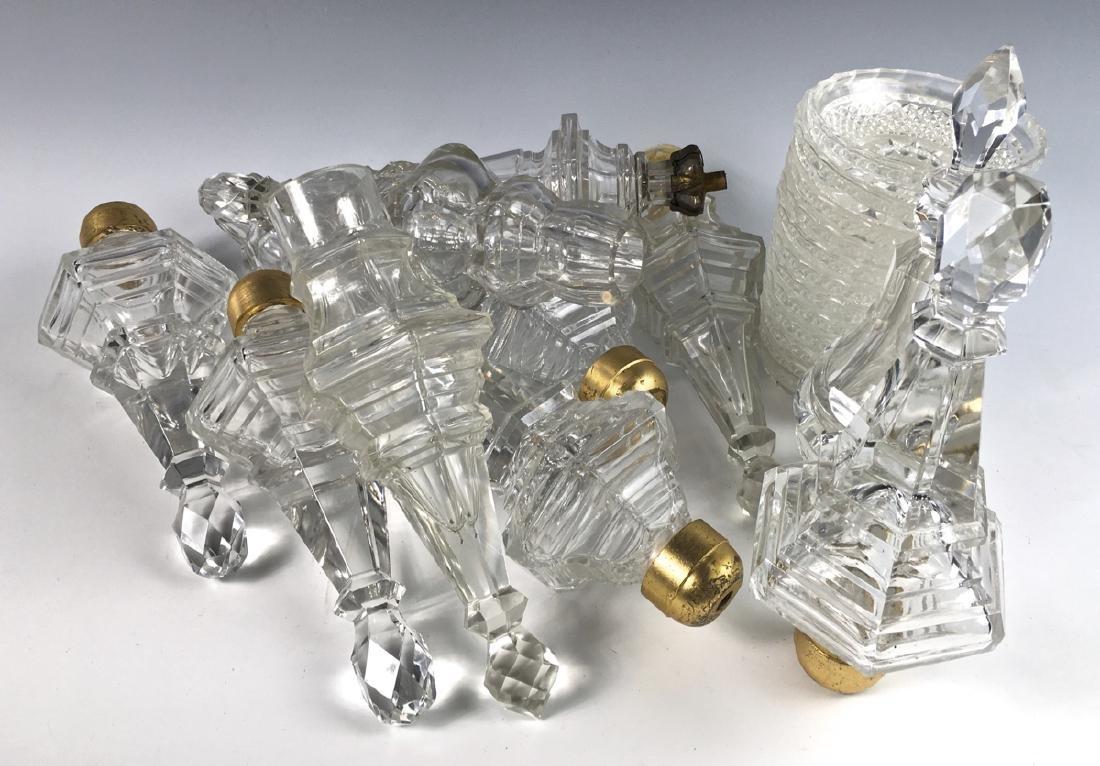 Box of Crystal Glass Lamp Parts