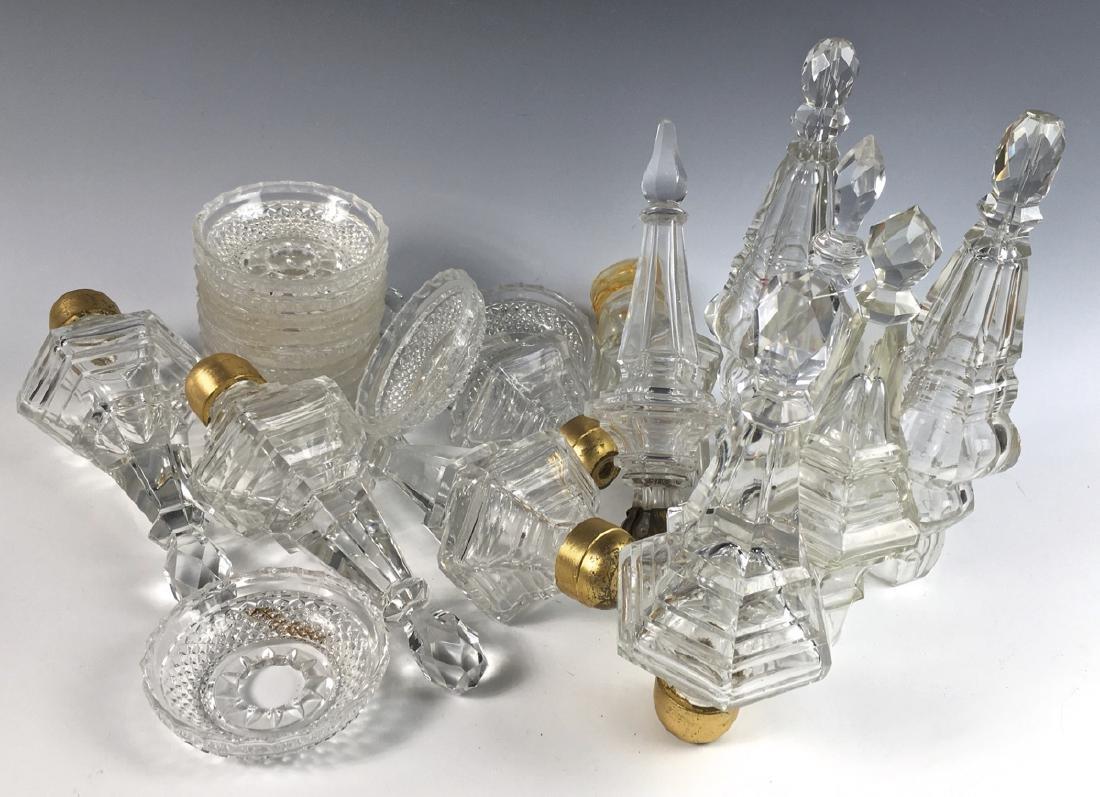 Box of Crystal Glass Lamp Parts - 2