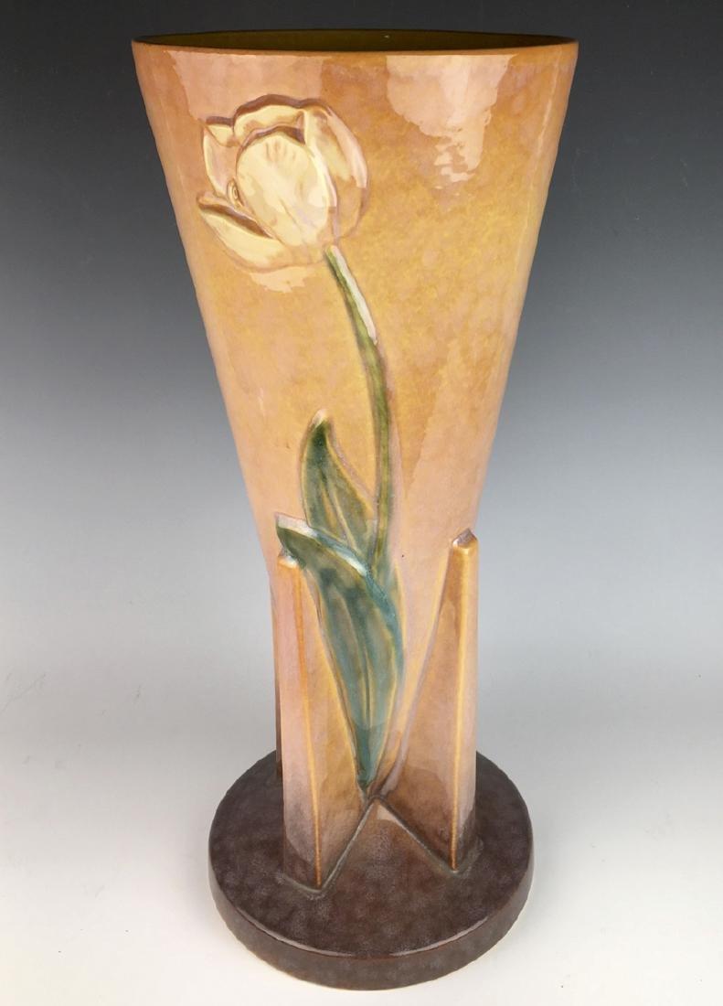 "Roseville Wincraft Art Pottery Vase 18"" C. 1950"