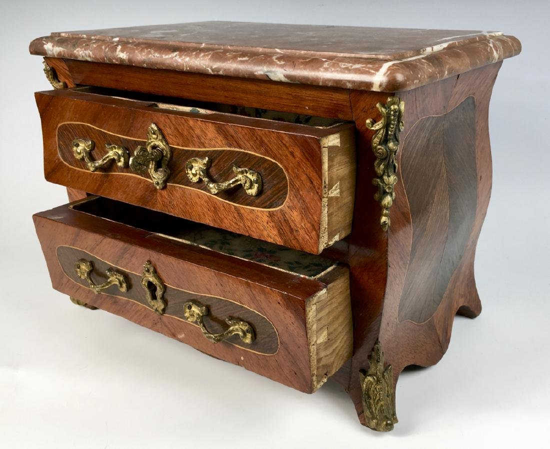 Louis XV Marble Top Commode Salesmans Sample