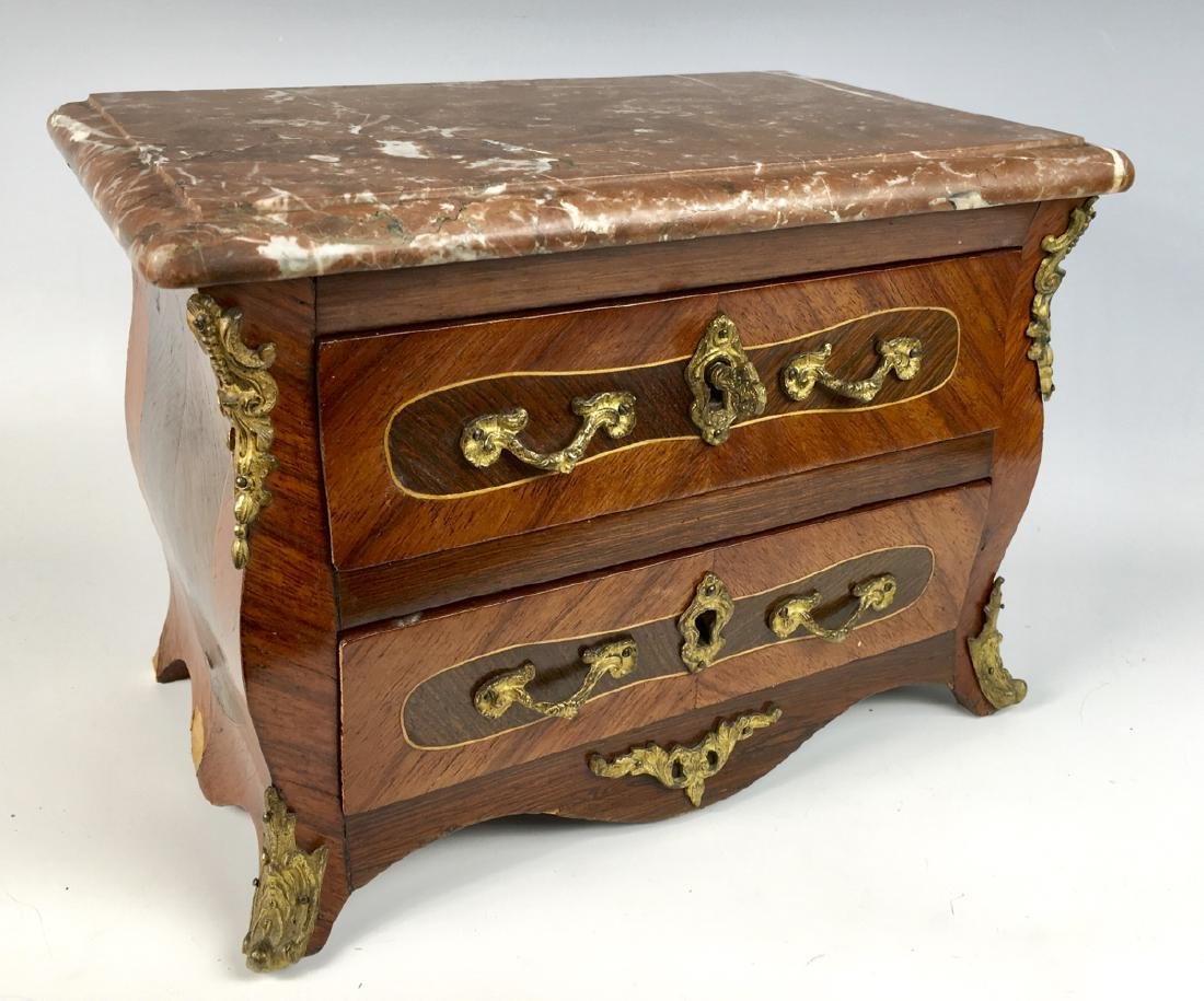 Louis XV Marble Top Commode Salesmans Sample - 2
