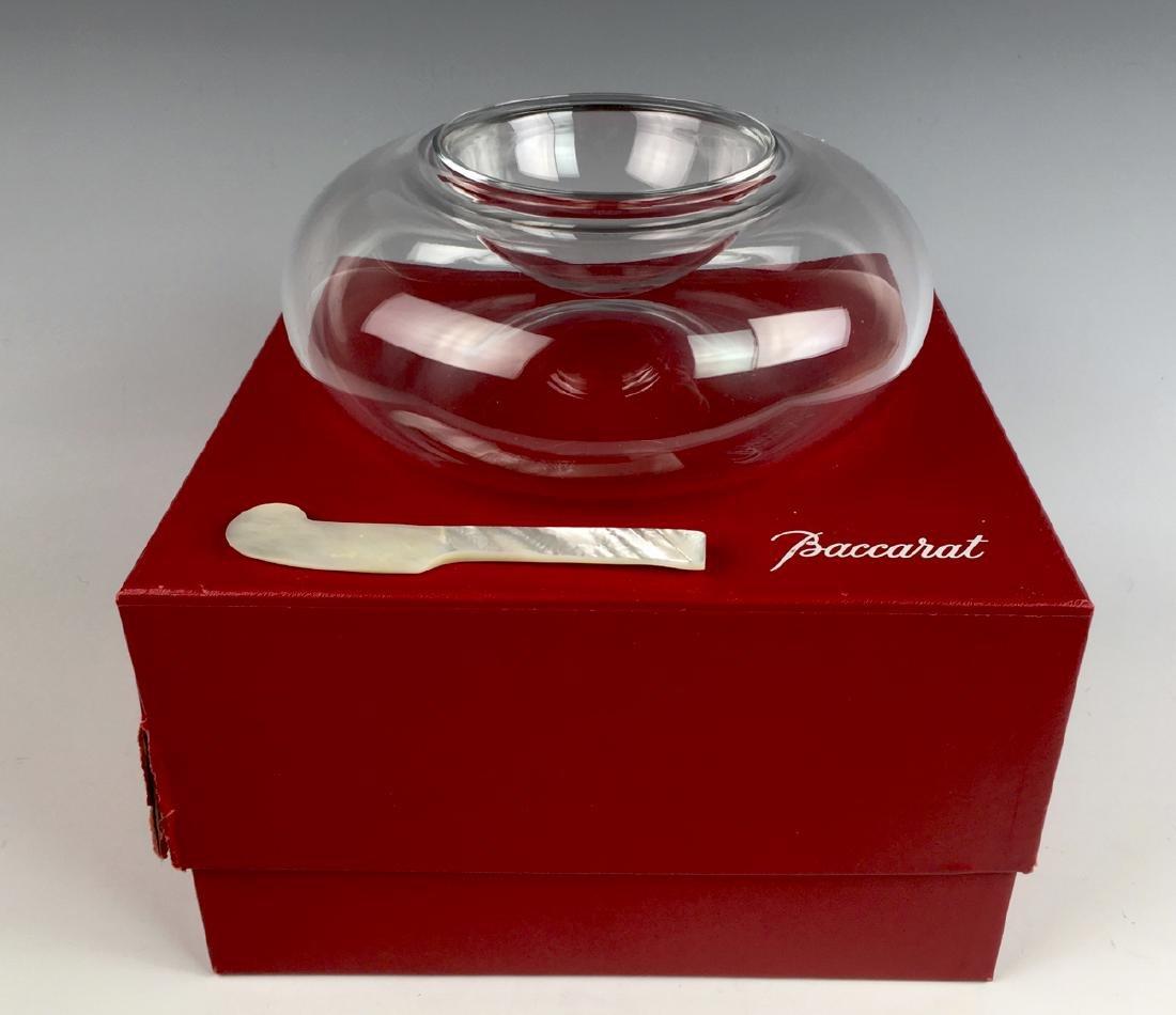 Baccarat Crystal Vesuvius Caviar Server w/ Box