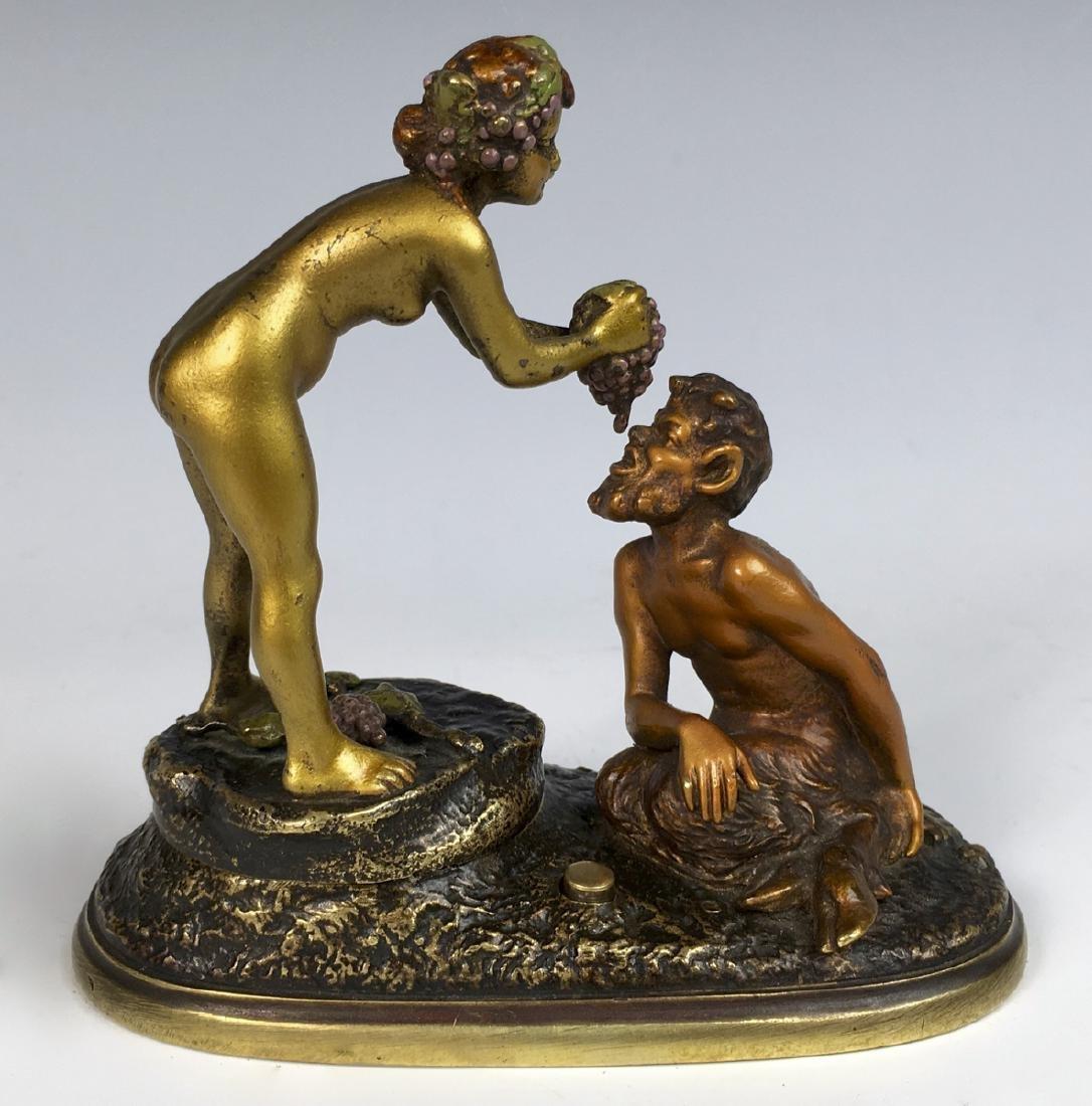 "Bergman Mechanical ""Satyr & Lady"" Naughty Bronze"