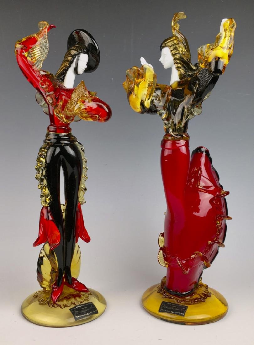 "Murano Glass ""Flamenco Dancers"""