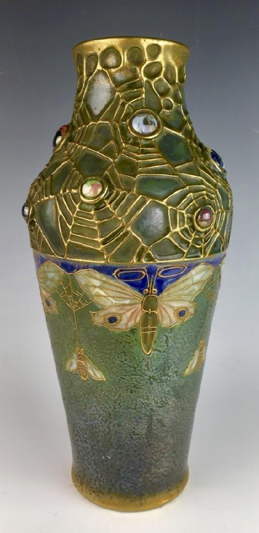"""Amphora """"Semiramis"""" Moth Vase Circa 1890"""