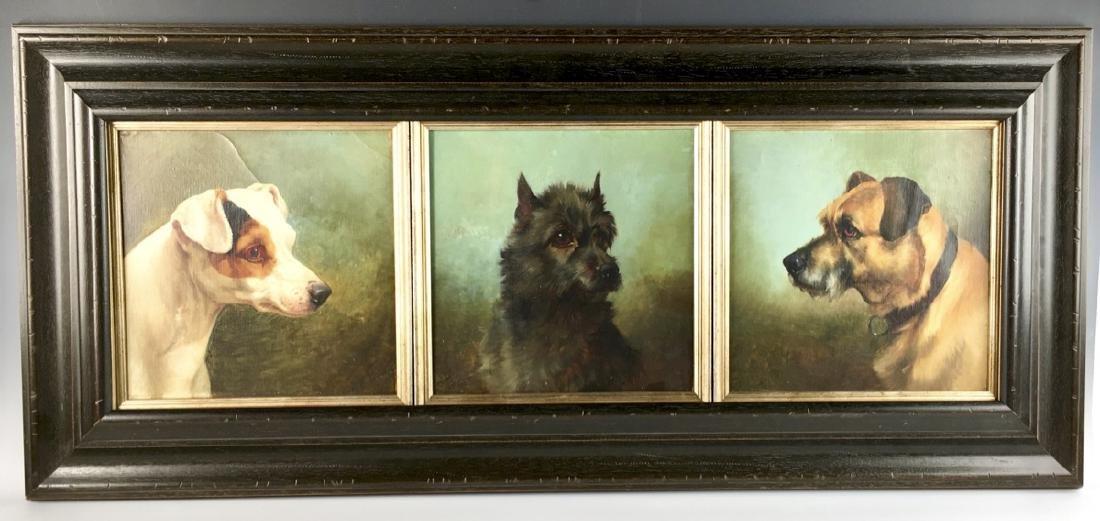 William Henry Trood (1860-1899) 3 Dog Portraits