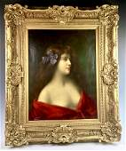 Angelo Asti (Italian 1847-1903) Lady Portrait
