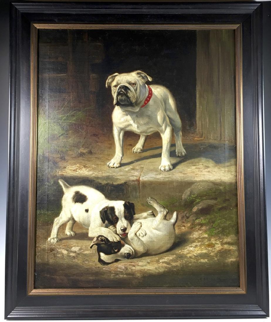 "Robert Atkinson Fox ""Bulldog Watching Pups"""