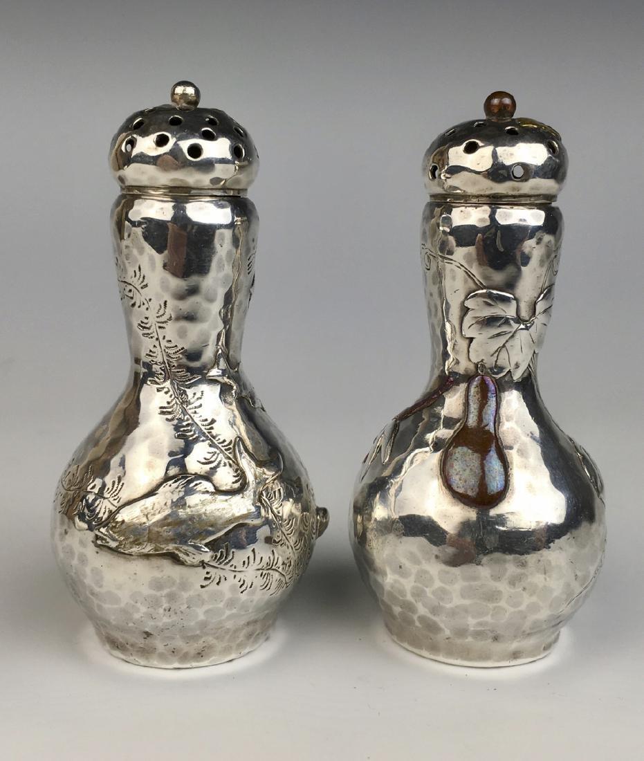 Tiffany & Co. Mixed Metals Sterling Salt & Pepper