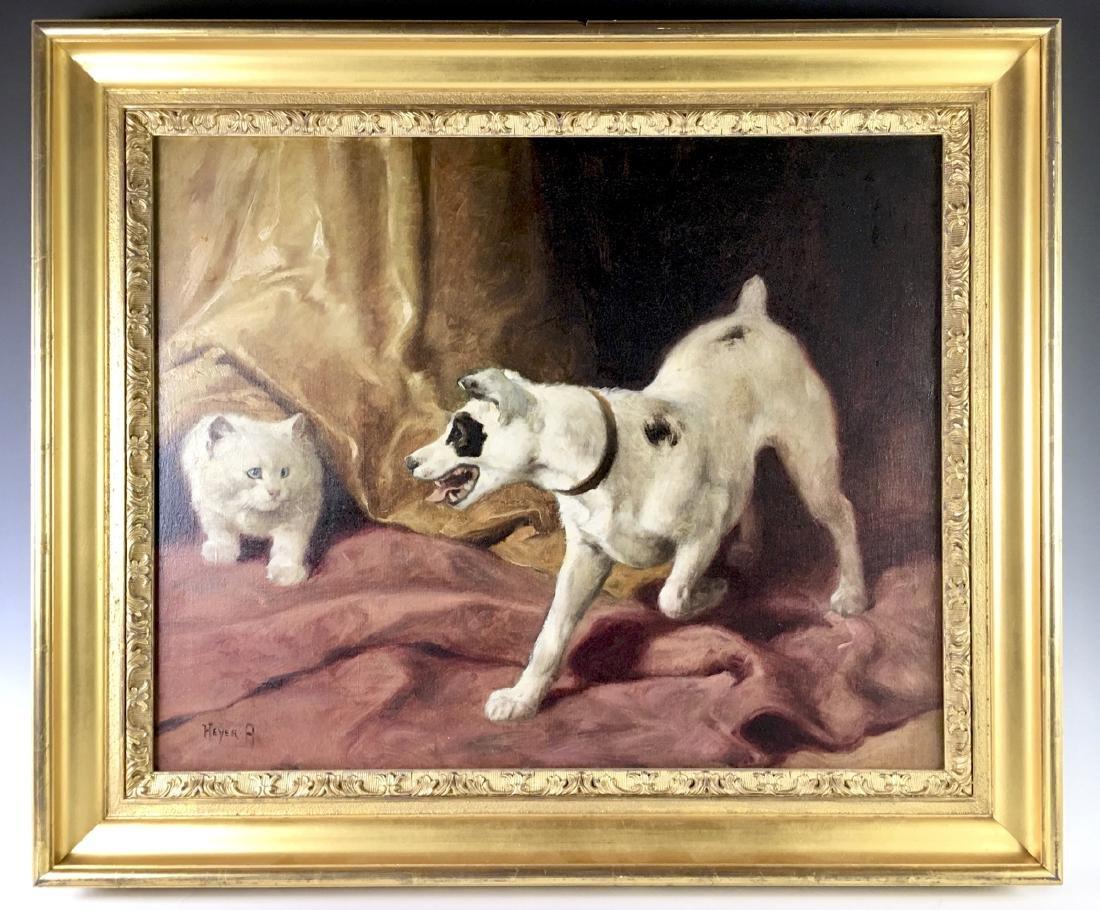 """Arthur Heyer """"Hide and Seek"""" Painting"""