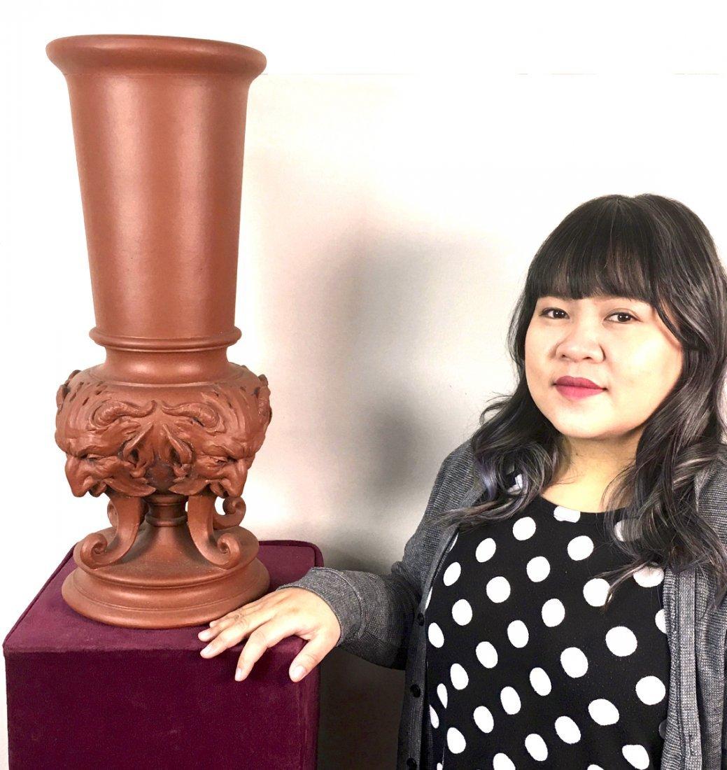 "Rare Teco ""Satyr"" Vase Designed by Fritz Albert"