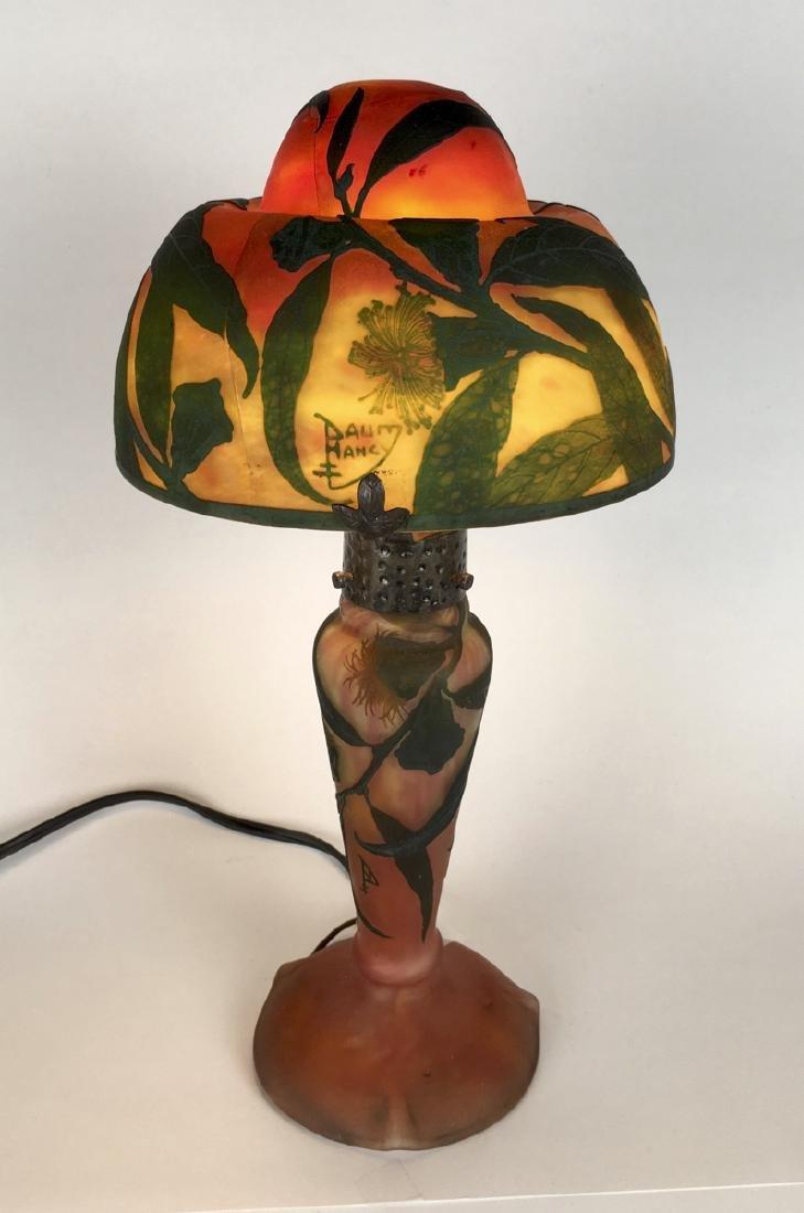 Original Daum Nancy Cameo Glass Lamp