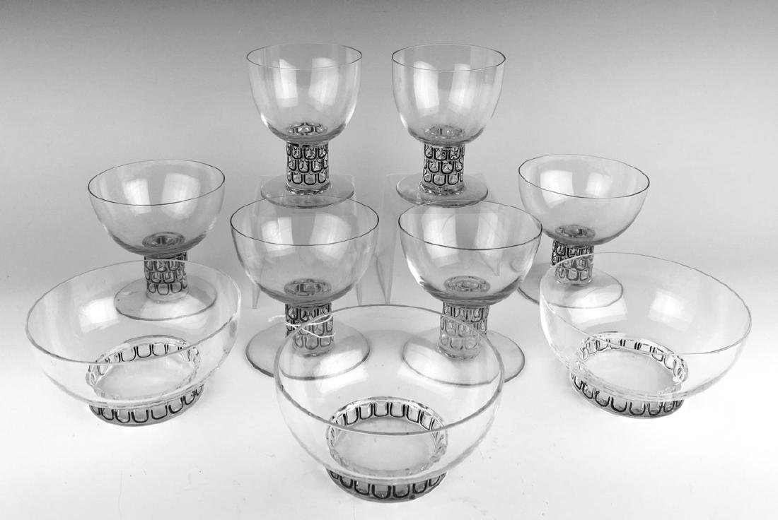 "R. Lalique 9 ""Saint Nabor"" Glasses & Bowls"