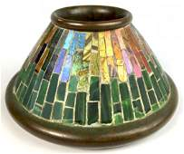 Rare Tiffany Studios Mosaic Match Holder #957