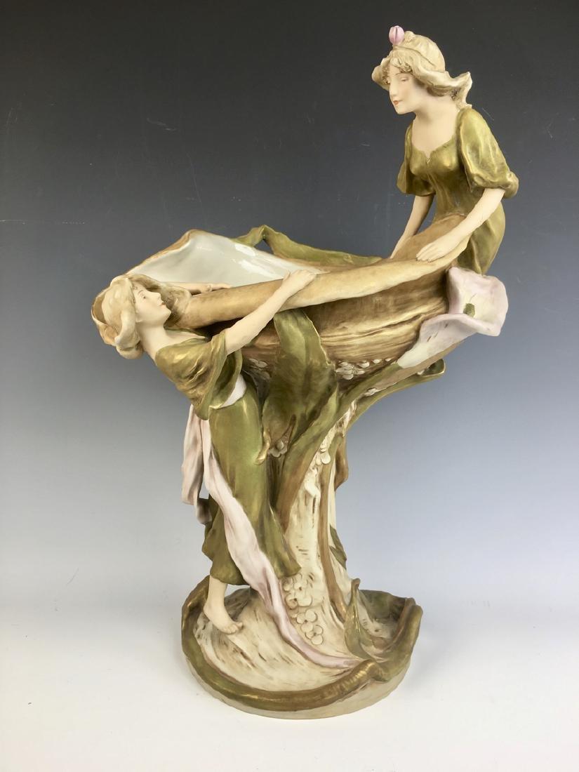 Monumental Royal Dux Art Nouveau Figurine C. 1900