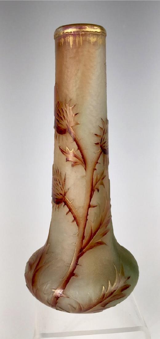 "Daum Nancy Cameo ""Thistle"" Vase"