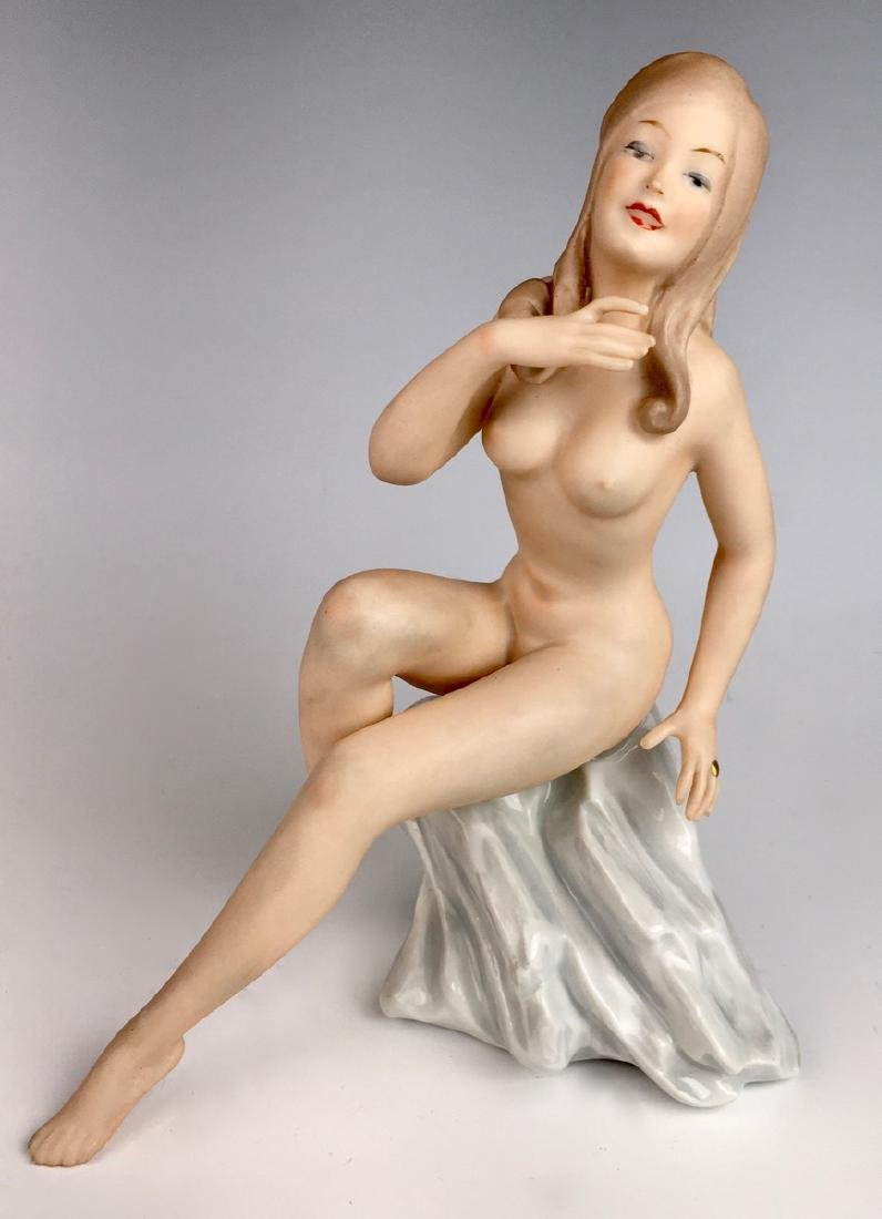 Nude Bisque Lady Figurine by Wallendorf
