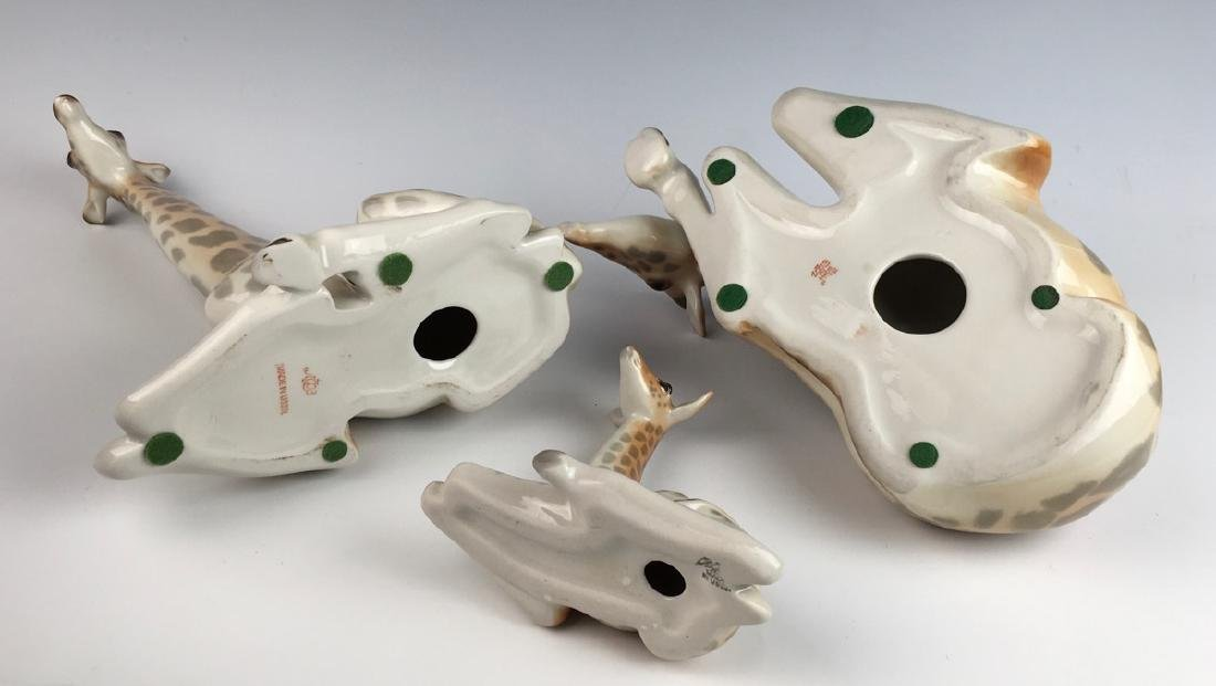 Set of 3 Russian Lomonsov Porcelain Giraffes - 3