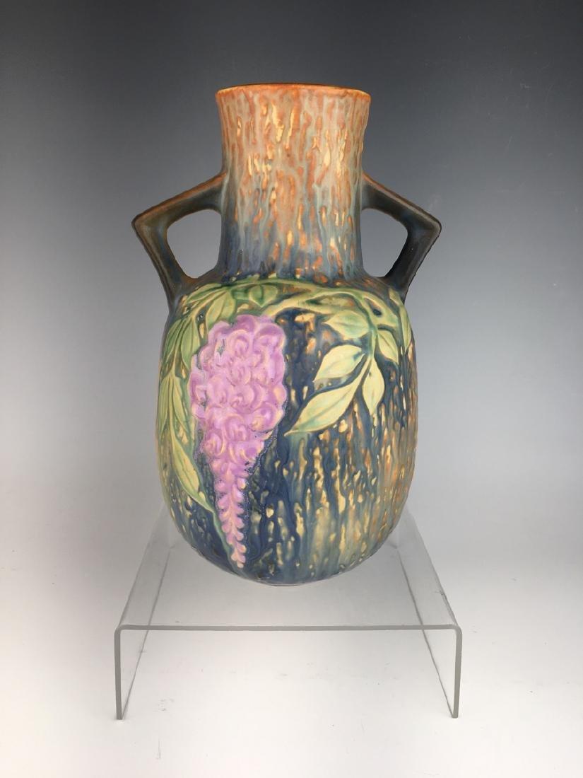 Roseville Blue Wisteria Vase - 3