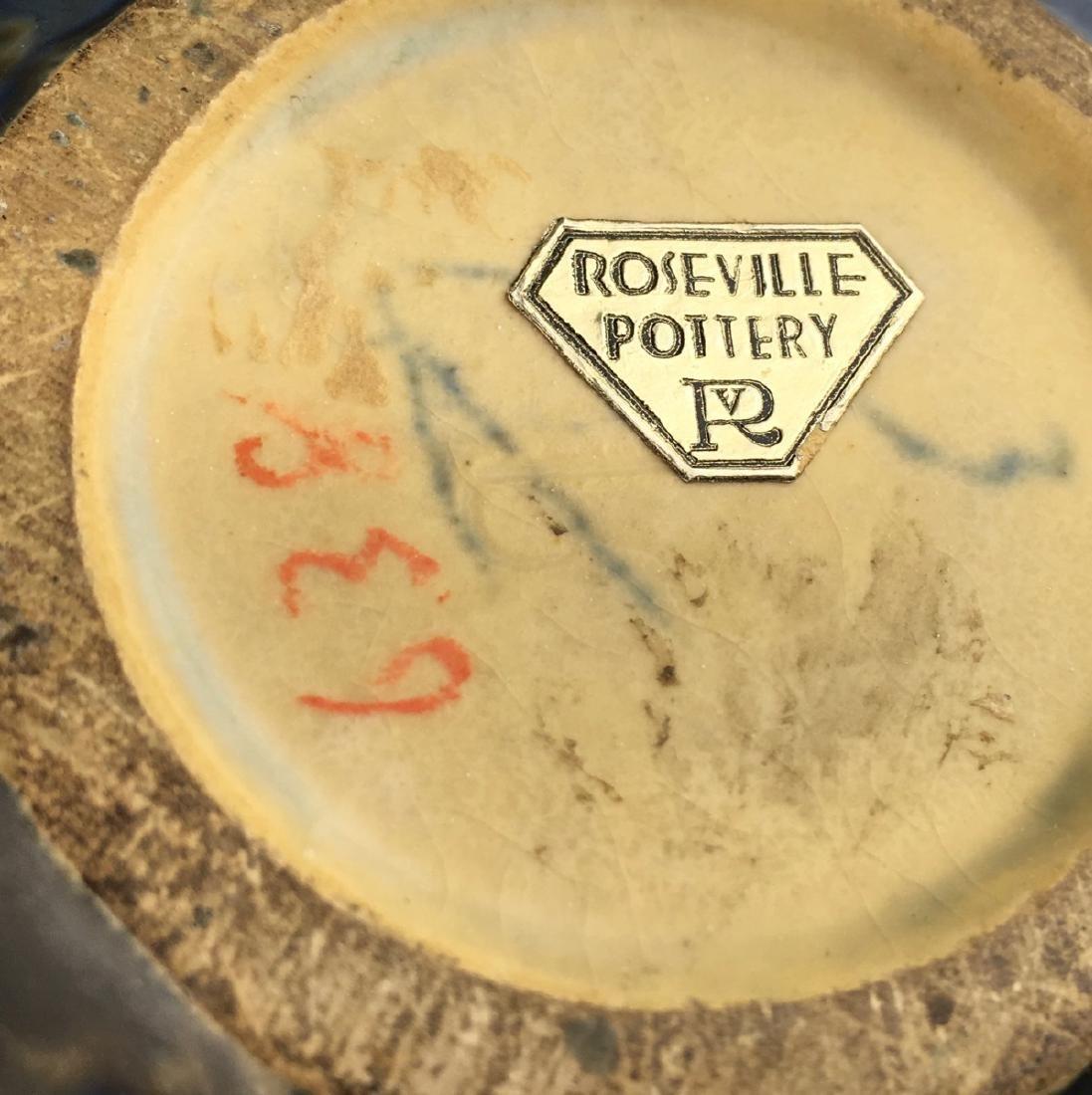 Roseville Blue Wisteria Vase - 4