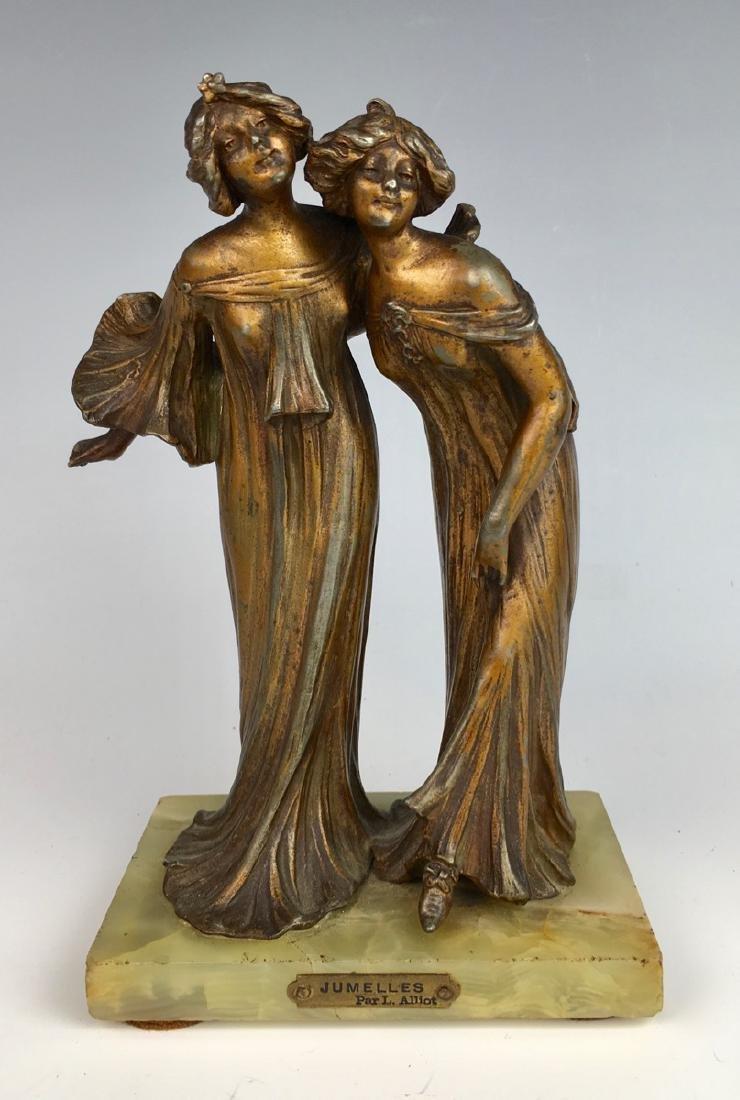 Lucien Charles Alliot Art Nouveau Sculpture