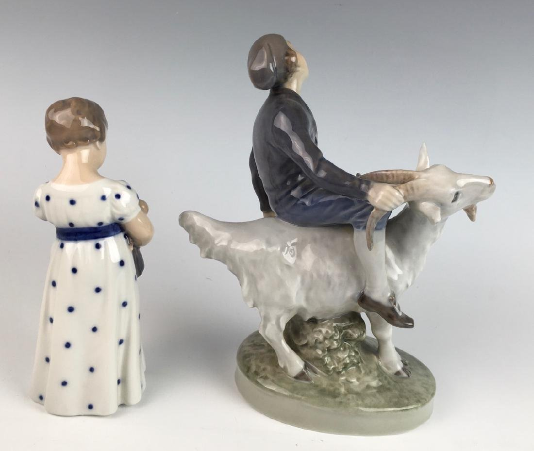 Royal Copenhagen 2 Porcelain Figurines - 2