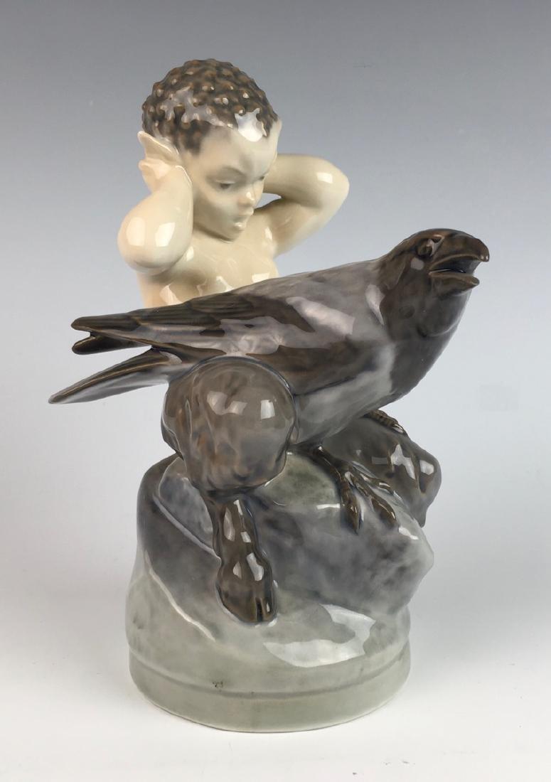 Royal Copenhagen 1923 Faun & Crow