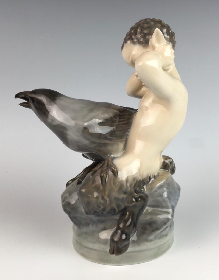 Royal Copenhagen 1923 Faun & Crow - 2
