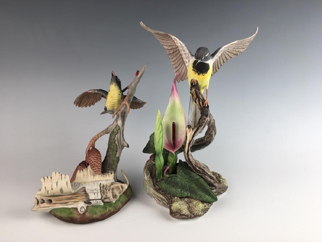 Two Boehm Bisque Figural Groups of Birds