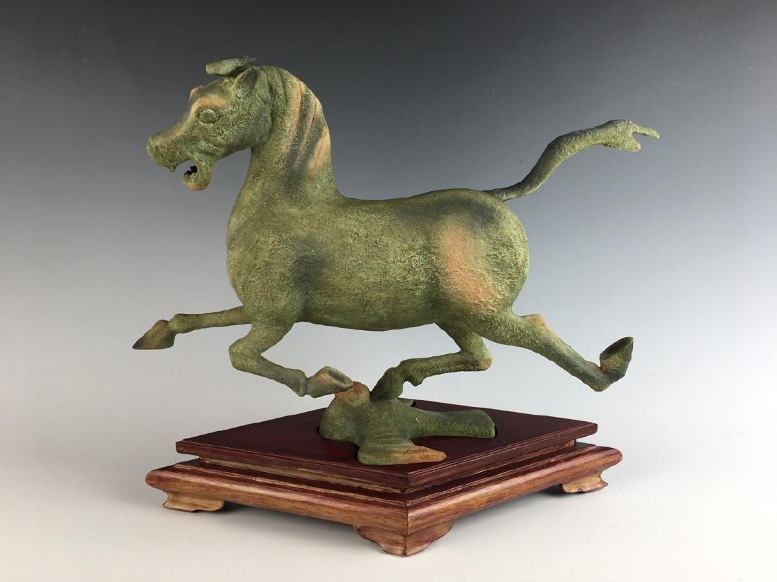 Boehm Porcelain Galloping Horse on Flying Swallow