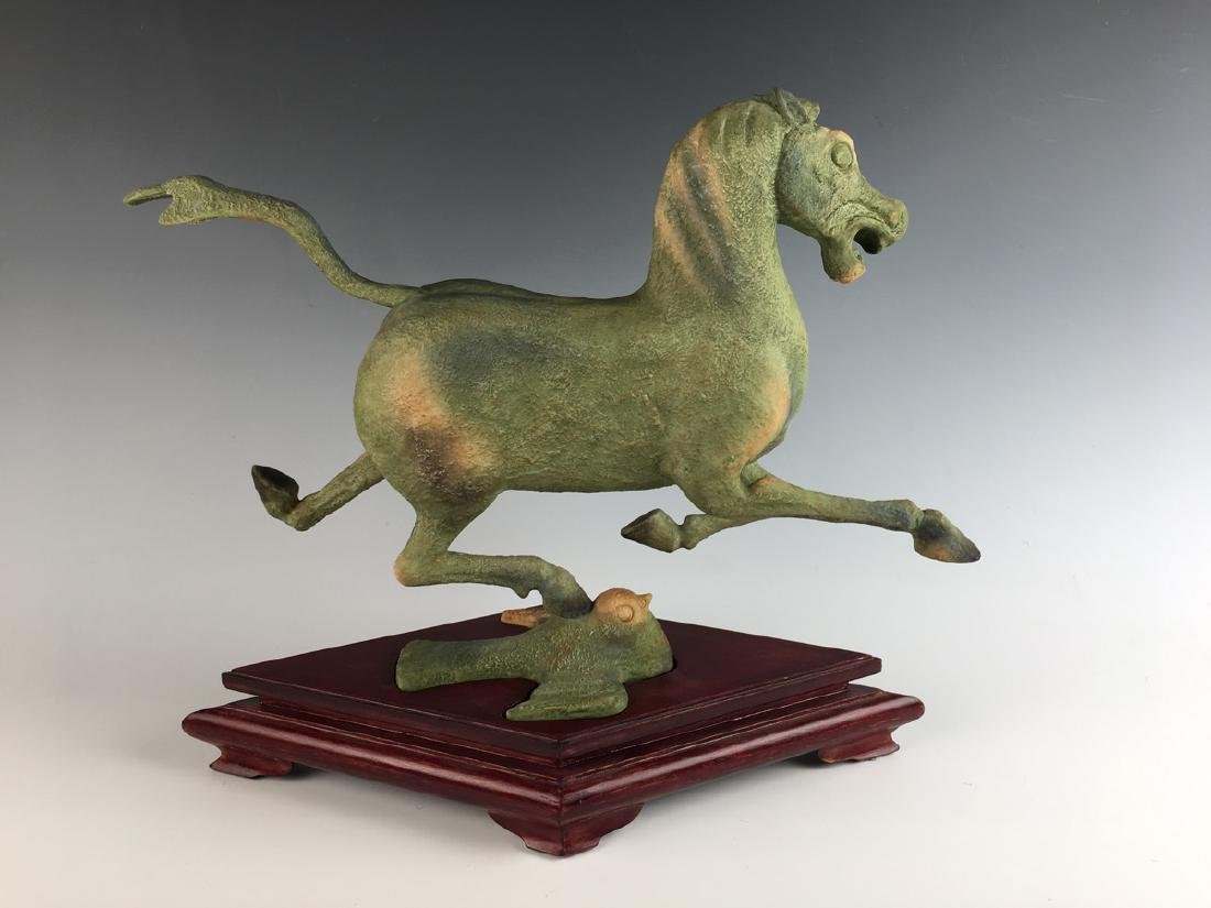 Boehm Porcelain Galloping Horse on Flying Swallow - 2