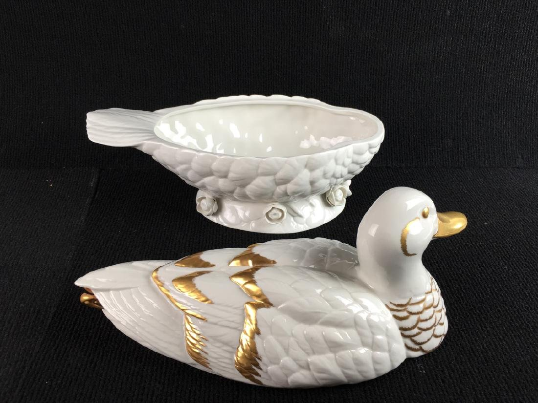 Boehm Porcelain Covered Duck Soup Tureen - 5