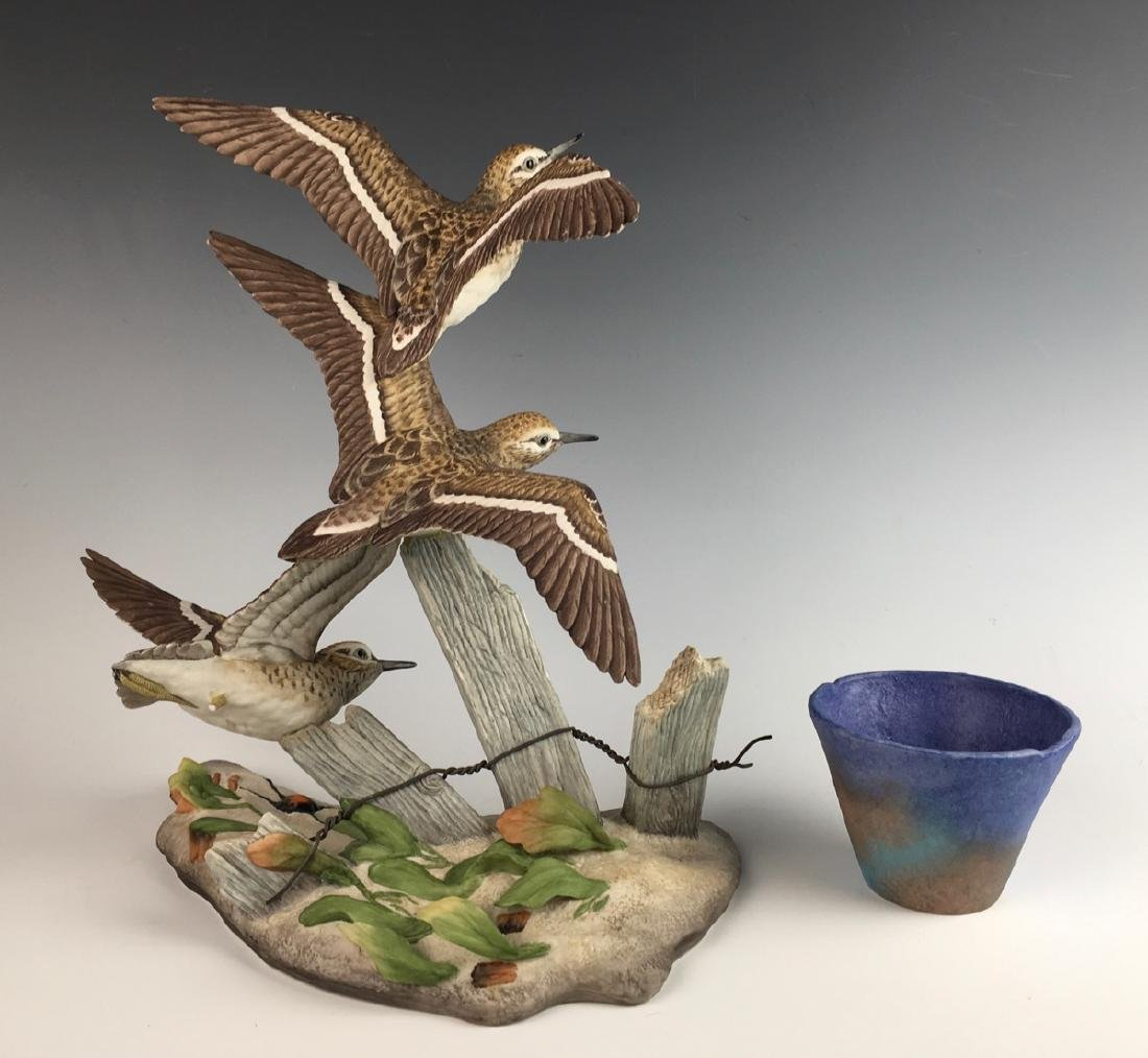 "Boehm ""Sandpipers"" & Faience Egyptian Cup 1976 - 2"