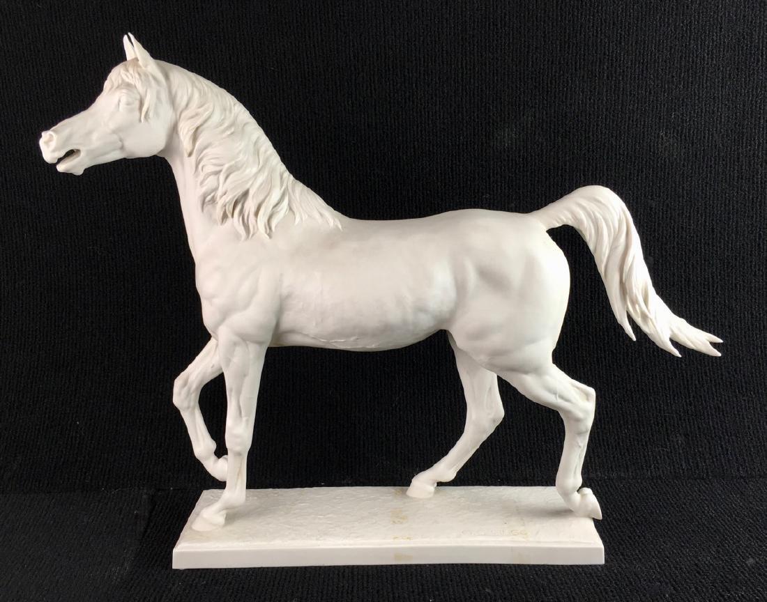 """Large Hutschenreuther """"Halla"""" Bisque Horse"""