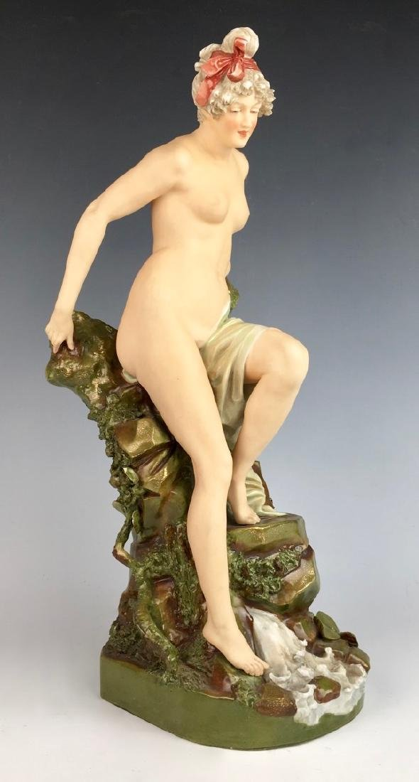 "Royal Dux ""Nude Descending Rocks"" Vase - 2"